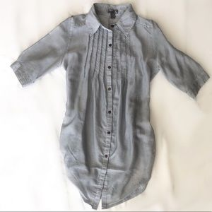 Poetry pin striped tunic button up